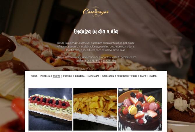 Cat�logo creado para Pasteler�as Casamayor (pasteleriascasamayor.es))