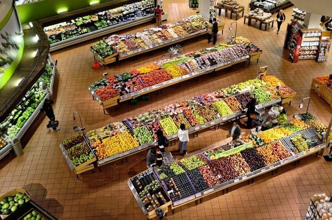 Imagen a�rea de un supermercado.
