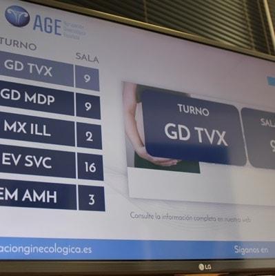 Imagen web Sistema de pantallas clínica AGE Madrid